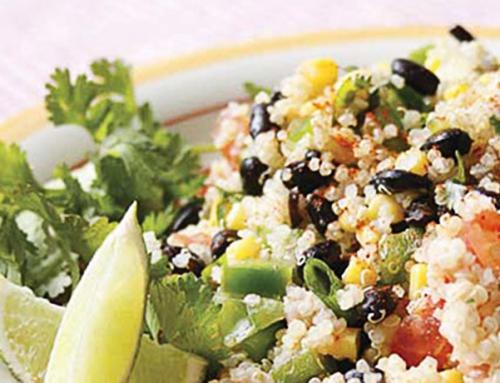 Salade de quinoa et fèves noires